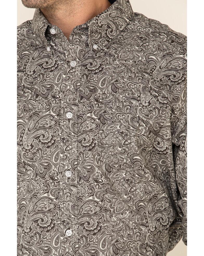 Cody James Core Men's Hawkins Large Paisley Print Long Sleeve Western Shirt - Big , Brown, hi-res
