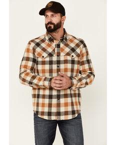 Pendleton Men's Brown Plaid Weston Button-Down Western Shirt Jacket , Brown, hi-res