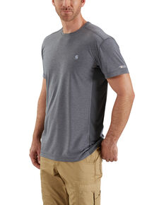 Carhartt Men's Grey Force Extremes Lightweight Work T-Shirt - Big , Heather Grey, hi-res