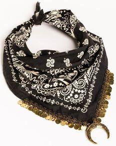 Idyllwind Women's Moon Shadow Bandana Necklace, Black, hi-res