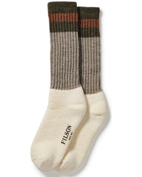 Filson Men's 1970's Logger Thermal Socks , Forest Green, hi-res