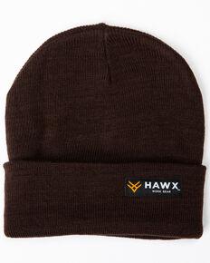 Hawx® Men's Brown Logo Bar Beanie, Brown, hi-res