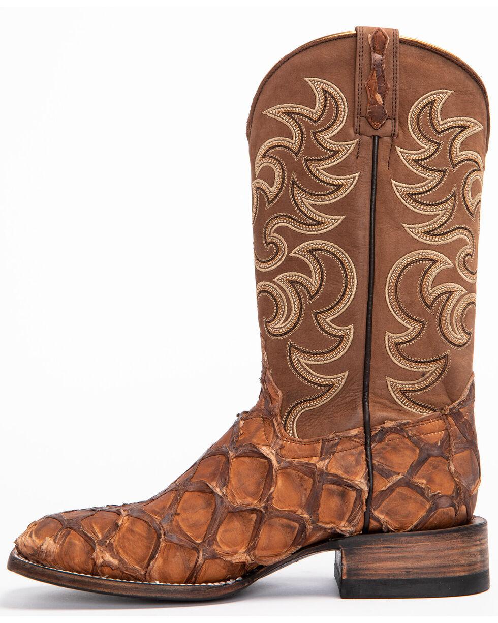 Shyanne Women's Exotic Pirarucu Western Boots - Square Toe, Brown, hi-res