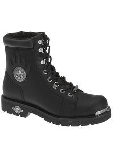 Harley Davidson Men's Diversion Moto Boots - Round Toe, Black, hi-res
