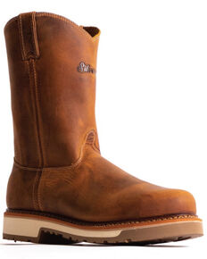 "Silverado Men's Tan 10"" Western Work Boots - Steel Toe, Tan, hi-res"