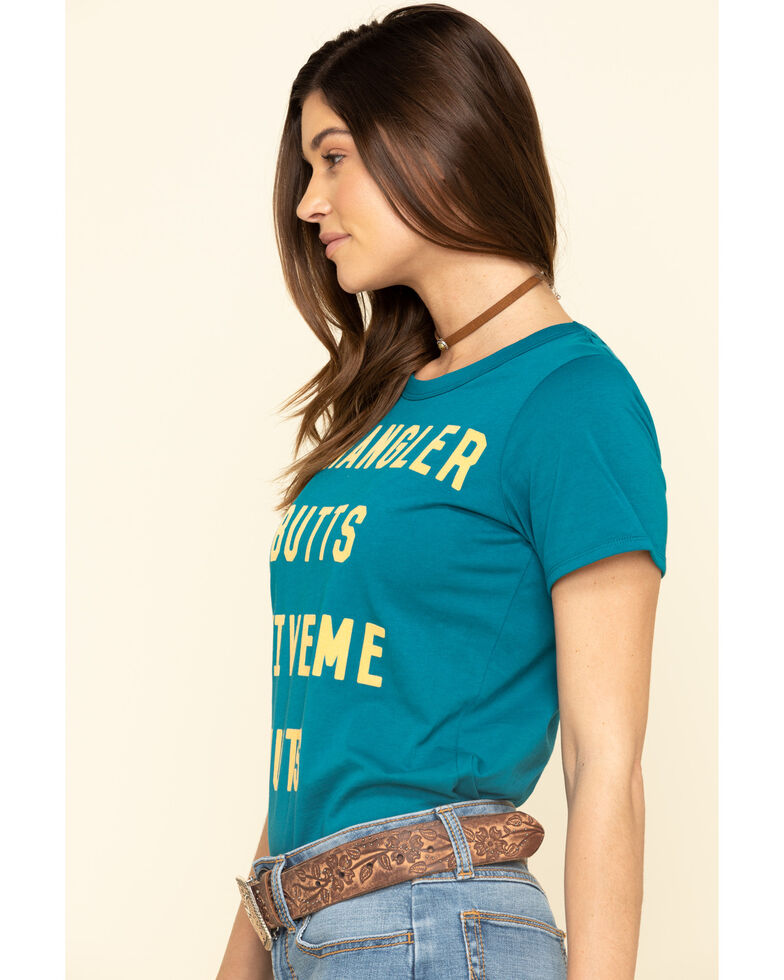 Wrangler Women's Blue Wrangler Butts Drive Me Nuts Graphic Tee, Blue, hi-res