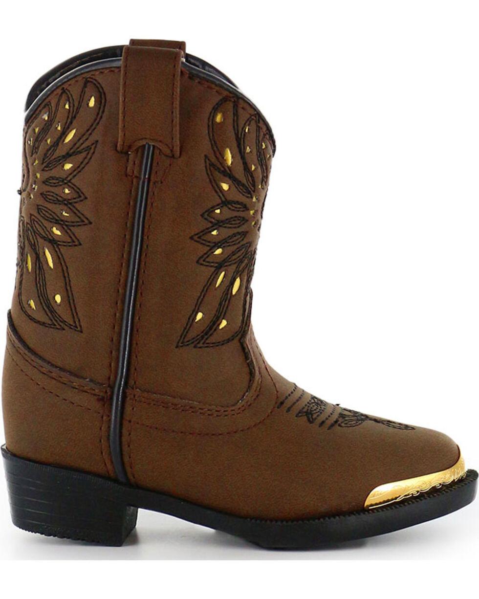 Shyanne Toddler Girls' Phoenix Western Boots - Narrow Round Toe , Brown, hi-res