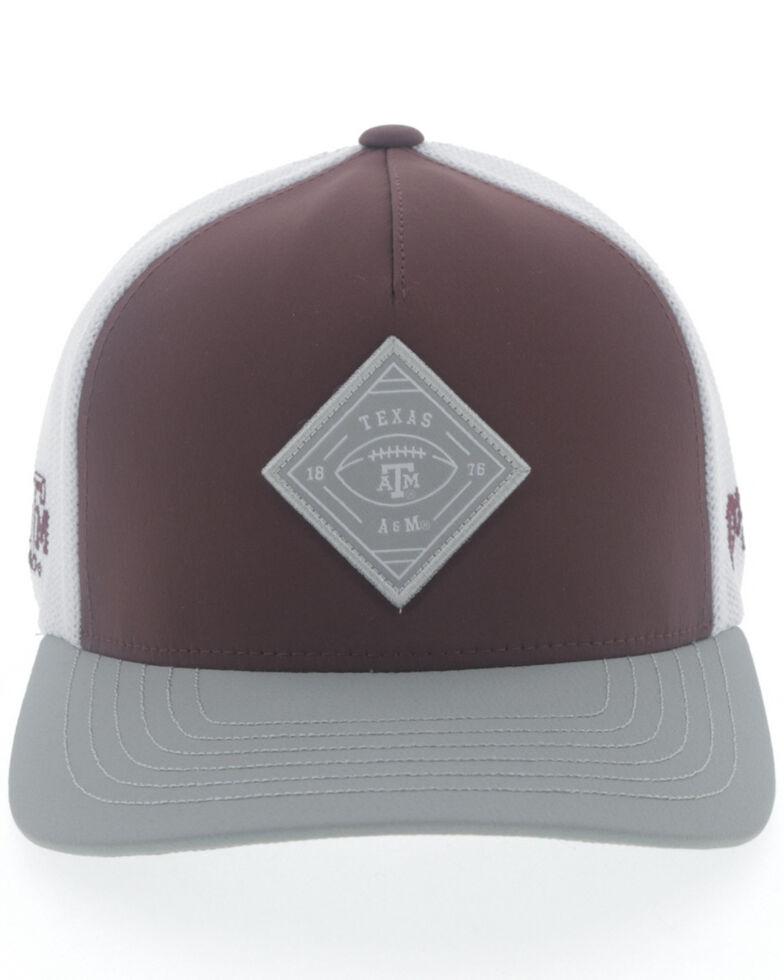 HOOey Men's Texas A&M Diamond Patch Flex Fit Cap , Multi, hi-res