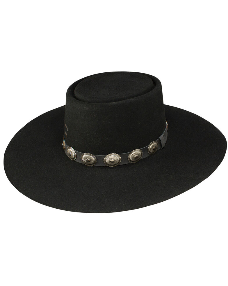 Charlie 1 Horse Women's High Desert Wool Hat, Black, hi-res