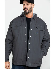 Ariat Men's Rebar Foundry Insulated Hooded Work Shirt Jacket - Big & Tall , Grey, hi-res