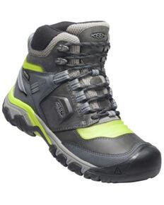 Keen Men's Steel Grey Ridge Flex Waterproof Lace-Up Hiking Shoe , Steel, hi-res