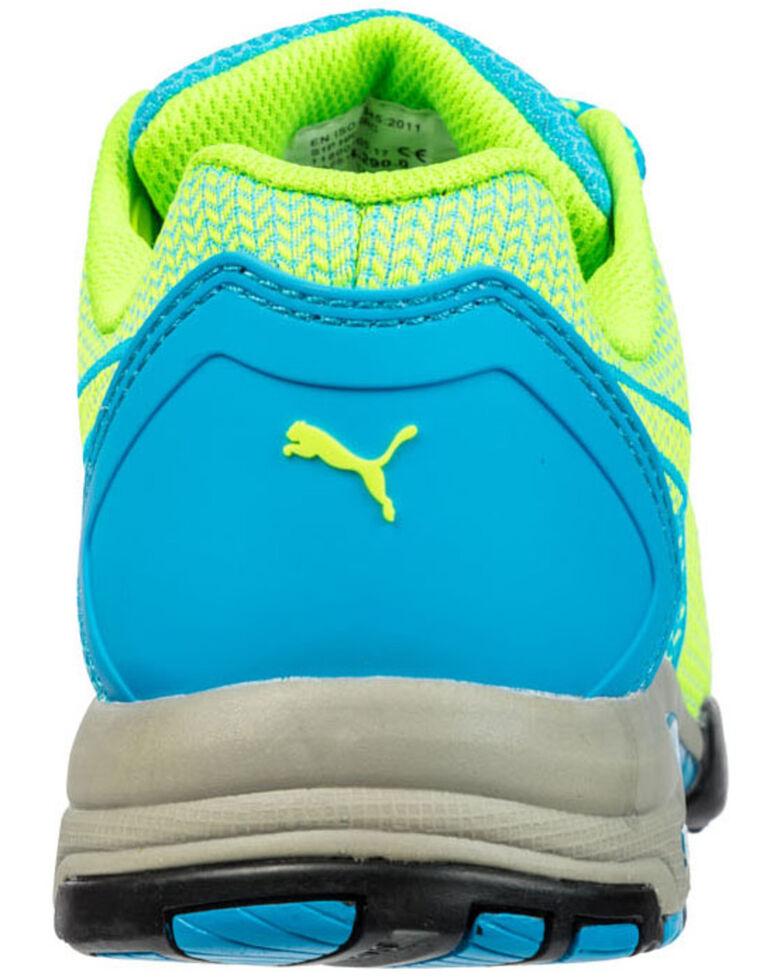 Puma Women's Celerity Knit Work Shoes - Steel Toe, Blue, hi-res