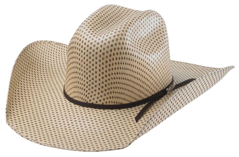 Tony Lama Rio Spotted Sheridan Straw Cowboy Hat, Two Tone, hi-res