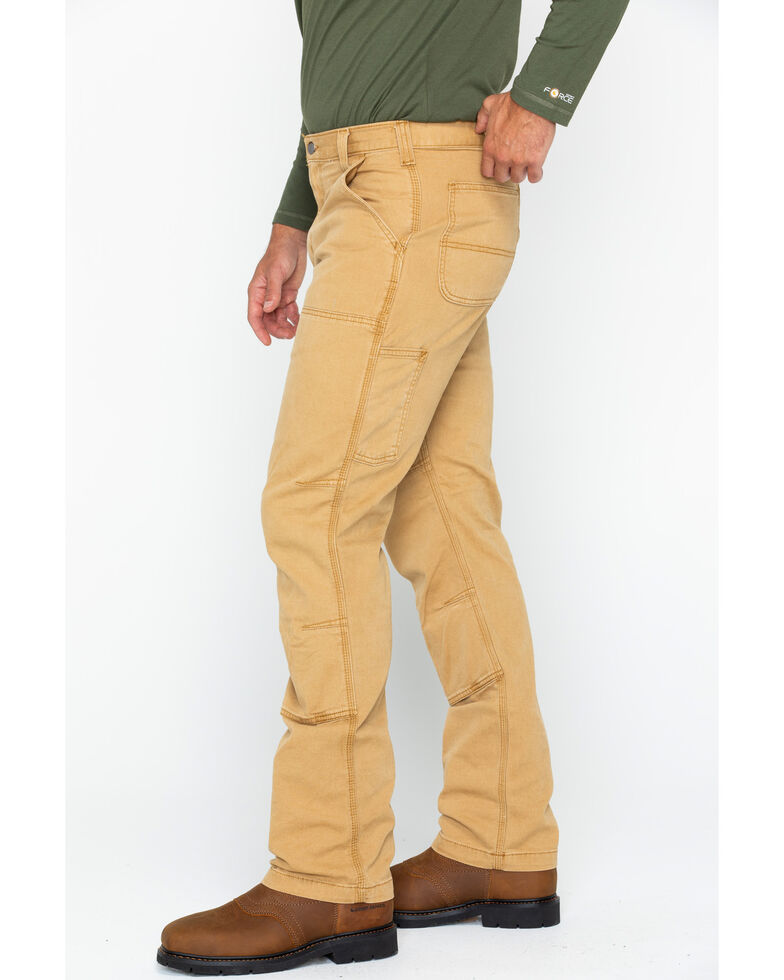 Carhartt Men's Rugged Flex Rigby Double-Front Pants - Straight Leg, Brown, hi-res