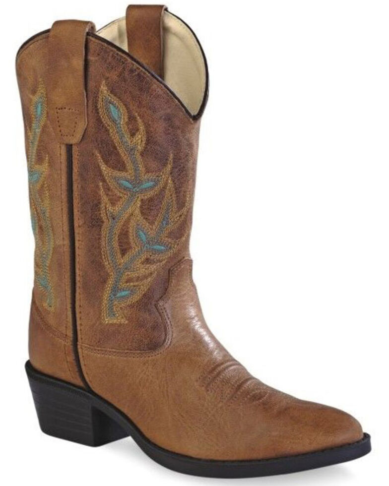Old Gringo Girls' Floral Embroidery Western Boots - Round Toe, , hi-res