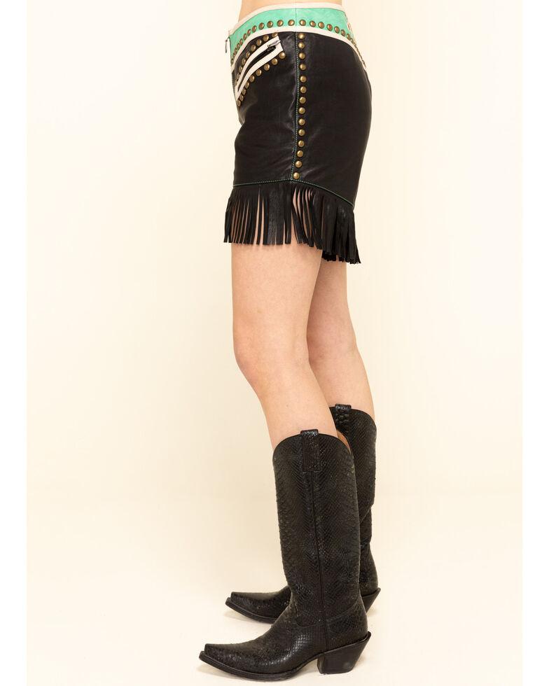 Double D Ranch Women's Multi-Color Midnight Cowboy Shorts, Multi, hi-res