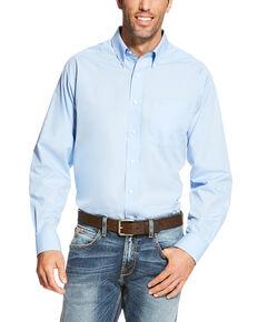 Ariat Men's Blue Wrinkle Free Button Long Sleeve Western Shirt - Big , Blue, hi-res
