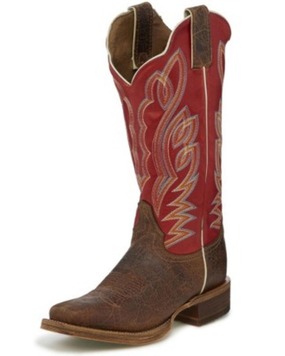 Justin Women's Katia Maple Western Boots - Square Toe, Brown, hi-res