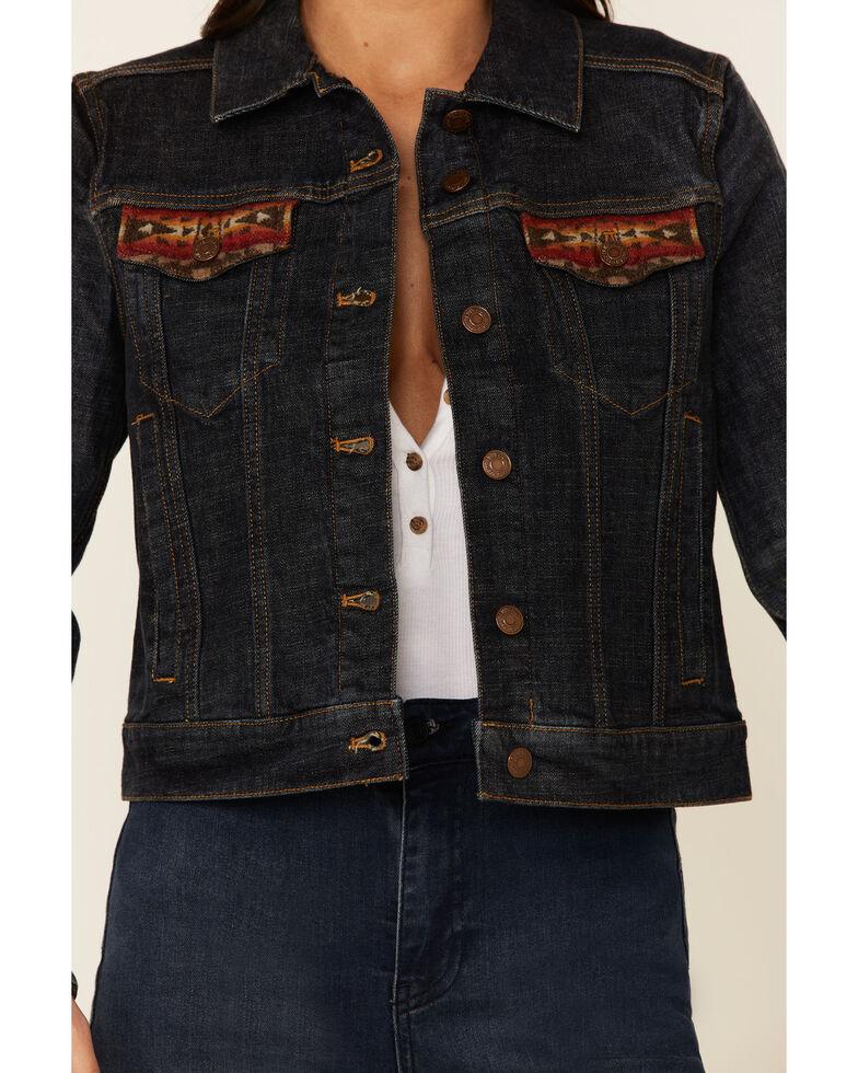 Pendleton Women's Sierra Ridge Denim Wool Jacket , Blue, hi-res