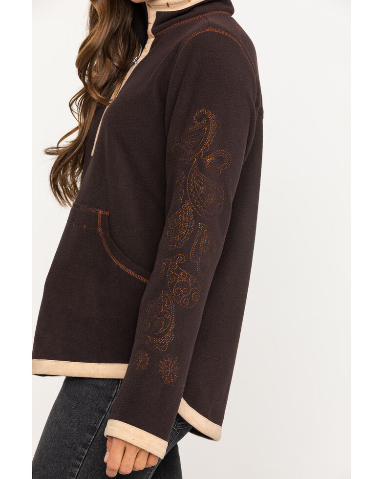 Outback Trading Co. Women's Kate Henley Pullover, Brown, hi-res