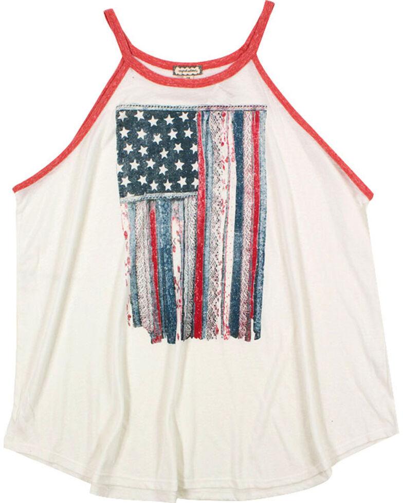 Eyeshadow Women's Mixed Pattern American Flag Graphic Tank - Plus, , hi-res