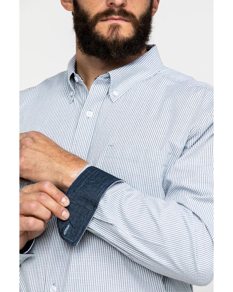 Cody James Core Men's East Fork Plaid Long Sleeve Western Shirt - Big , Blue, hi-res