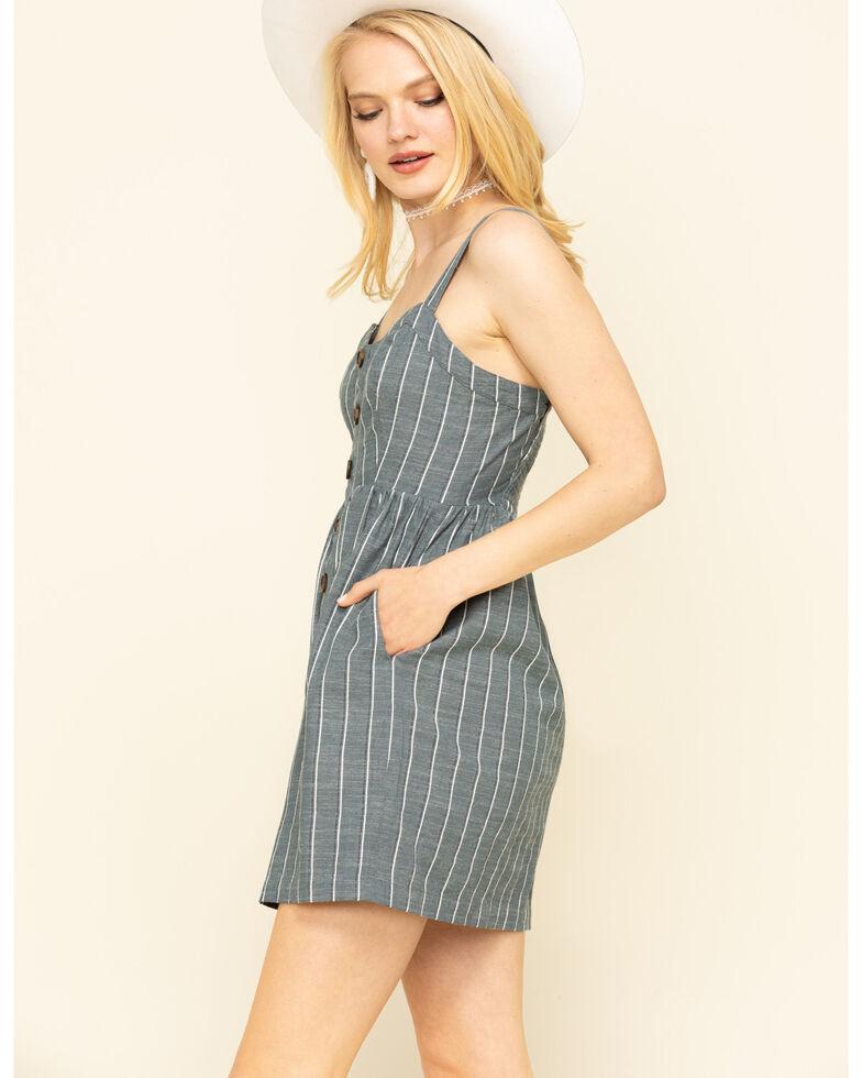 Shyanne Women's Slate Button Front Dress , Slate, hi-res