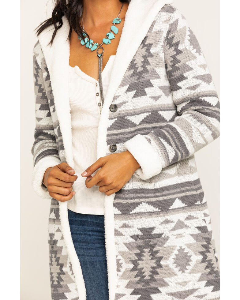 Idyllwind Women's Aztec Teddy Cardigan , Natural, hi-res