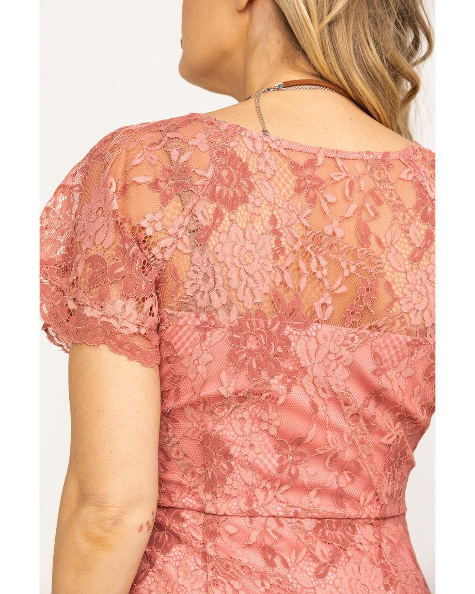 Black Swan Women's Blush V-Neck Lace Dress, Blush, hi-res
