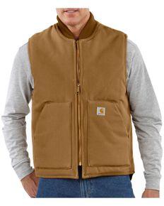 Carhartt Arctic Quilted Canvas Duck Vest, Brown, hi-res