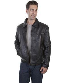 Scully Men's Leather Jacket, Black, hi-res