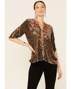 Johnny Was Women's Leopard Print Top, Multi, hi-res