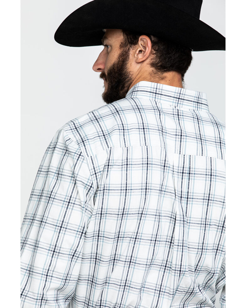 Cody James Core Men's Founders Large Plaid Long Sleeve Western Shirt , White, hi-res