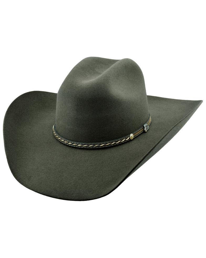 Justin Men's 6X Chocolate Crowell Western Felt Hat , Chocolate, hi-res