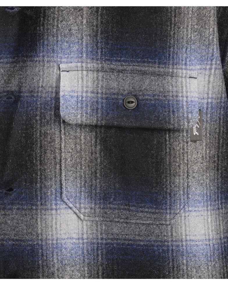 Woolrich Bering Blue Ombre Plaid 7-Oz Wool Shirt Jacket, Blue, hi-res