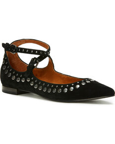 974884140 Frye Women's Sienna Stud Criss Cross Ballet Flats - Pointed Toe