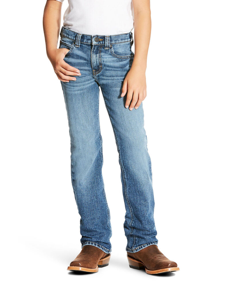 Ariat Boys' Brandon Legacy Stretch Low Relaxed Bootcut Jeans , Blue, hi-res