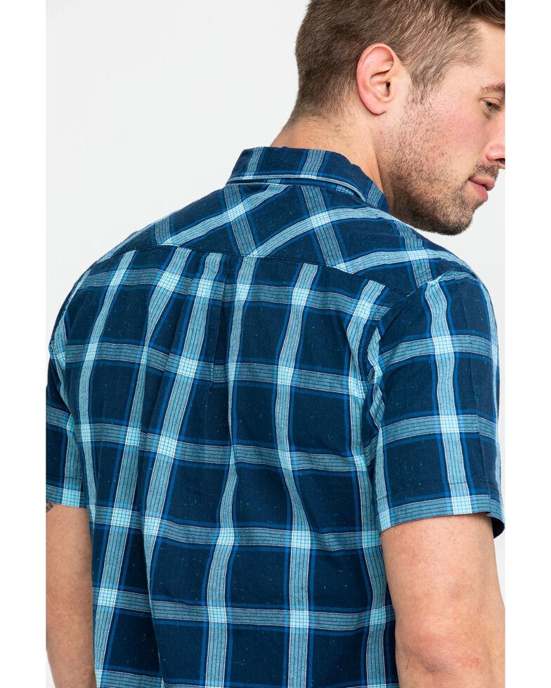Levi's Men's Brunet Plaid Short Sleeve Western Shirt , Dark Blue, hi-res