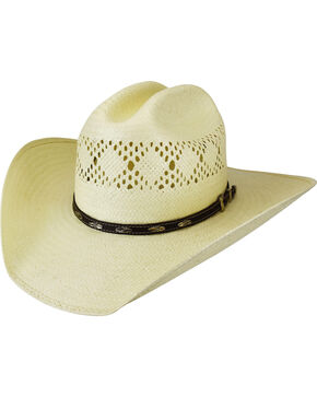 Bailey Men's Shawnee Diamond Vented Western Hat, Natural, hi-res