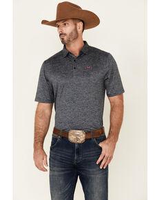 Cinch Men's Arena Flex Solid Navy Short Sleeve Polo Shirt, Navy, hi-res