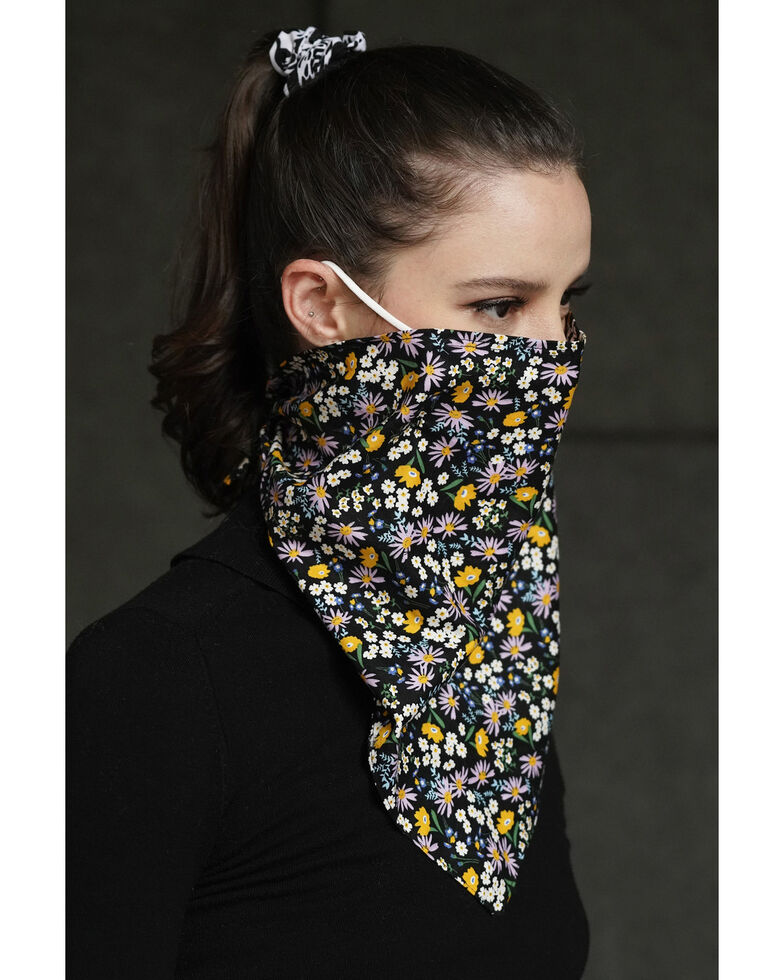 Shiraleah Women's Floral Bandana Face Mask With Filters, Multi, hi-res