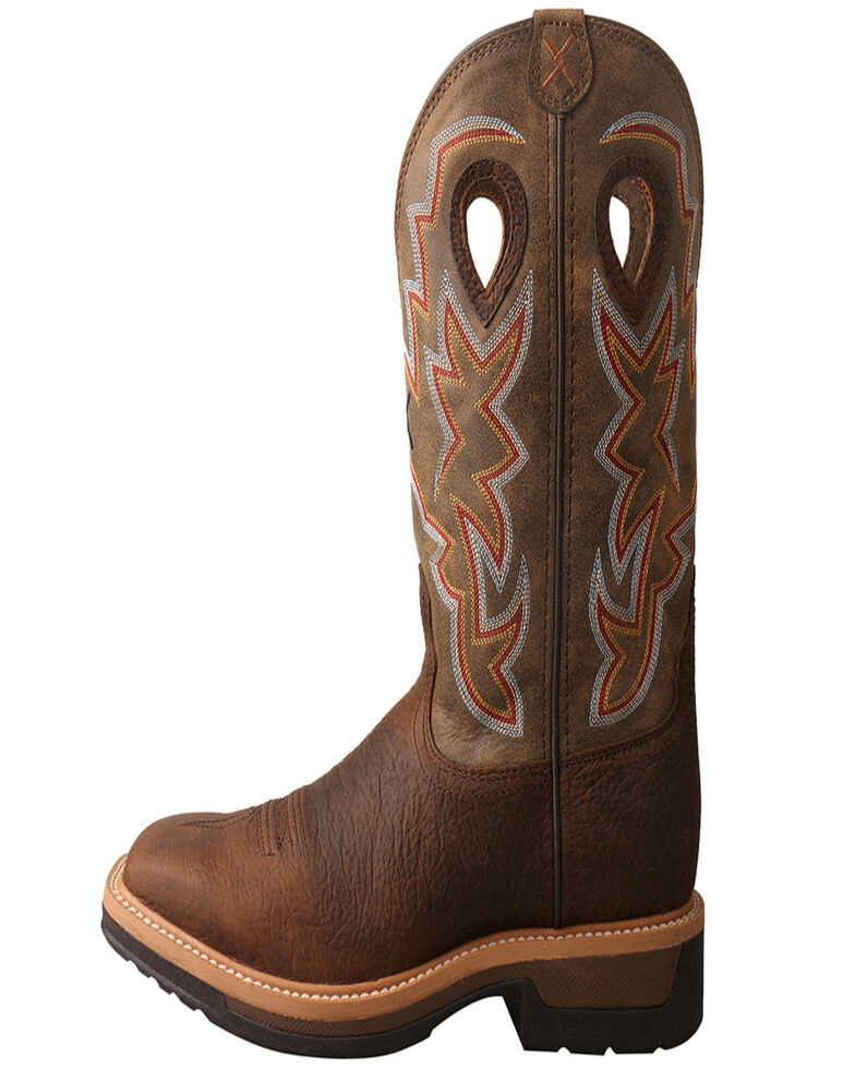 Twisted X Men's Lite Western Work Boots, Taupe, hi-res