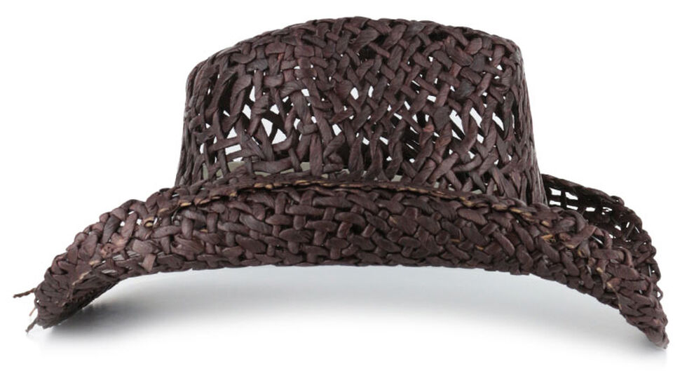 Shyanne Women's Ford Loose Weave Straw Hat, Dark Brown, hi-res
