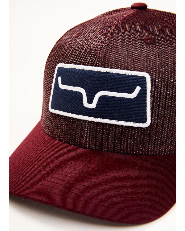 Kimes Ranch Burgundy Logo Patch Mesh Trucker Cap , Burgundy, hi-res