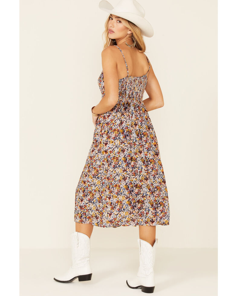 Cotton & Rye Outfitters Women's Ditsy Floral Button-Front Sundress, Multi, hi-res