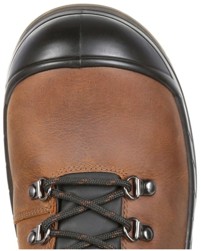 Rocky Men's Worksmart Internal Met Guard Work Boots - Composite Toe, Brown, hi-res