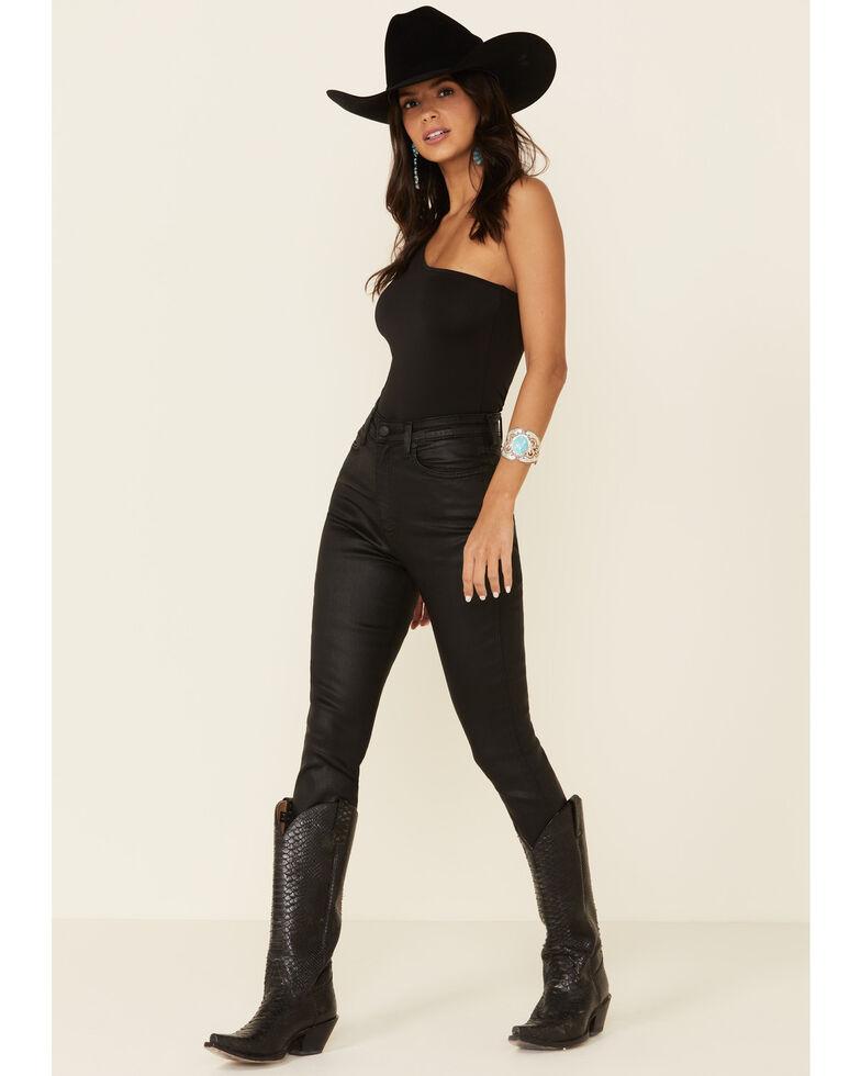 Wrangler Modern Women's Black High Rise Coated Skinny Jeans, Black, hi-res