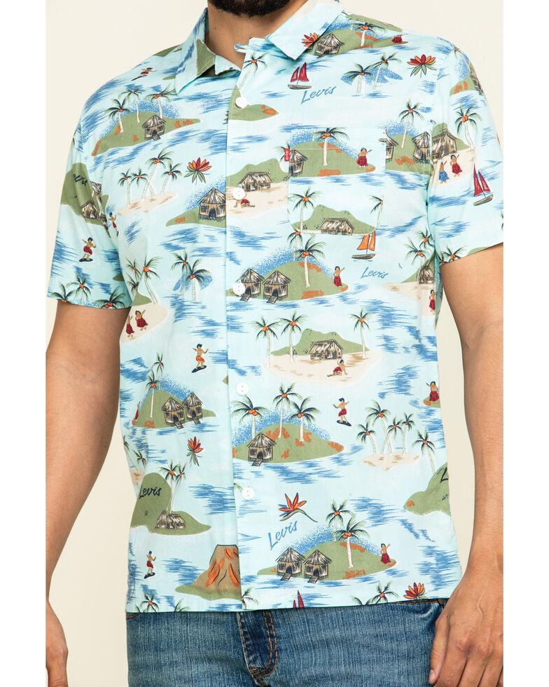 Levis' Men's Galveston Print Short Sleeve Western Shirt , Multi, hi-res