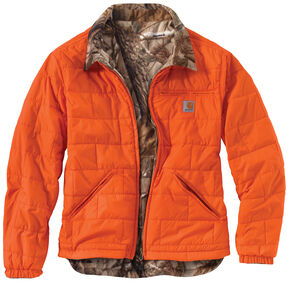 Carhartt Men's Woodsville Reversible Camo Jacket, Orange, hi-res