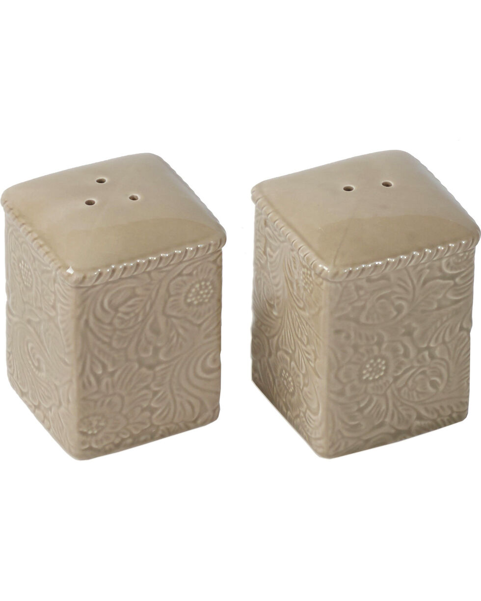 HiEnd Accents Savannah Salt & Pepper Shakers - Taupe, Taupe, hi-res